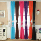 Solid Color Tulle Door Window Curtain Drape Panel Sheer Scarf Valance Gorgeous