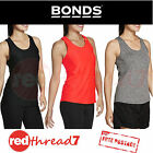 Bonds New Active Womens Gym Tank Top Singlet Tee Black Orange Sports Size S M L