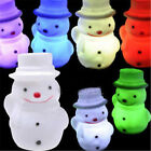 Snowman 7 Color Changing Light LED Night Lamp Home Party Decor Xmas Gift Toy Hot