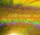 "GOLD SPARKLE VINYL SHEETS 12 x 12"" CRAFT CUTTING MACHINES EXPRESSION  SILOUETTE"