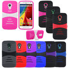 Heavy Duty Hard Cover Soft Silicone Case For Motorola Moto G 2nd Gen.