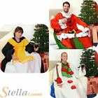 Christmas Snug Rug Warm Winter Fleece Throw Blanket With Sleeves Onesie