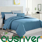 Premium High Quality Solid Color Double Queen King Size Bed Doona Quilt Cover