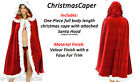 Ladies Sexy Cape Lingerie Miss Santa Christmas Outfit Fancy Dress Costume Bikini