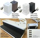 Tower Extension Lead Block 8/9 Gang Sockets Choose Surge Protection 2 USB Ports