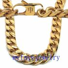 10MM Never Fade IP GOLD 316L Stainlesss Steel  Hand Polished Necklace Bracelet