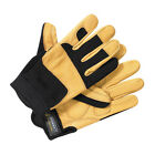 Mens Dickies Mechanic Gloves GL0400 Performance Leather Tan Work Wear