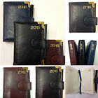 Pocket Leather Look Week Day To View 2015 Diary With Pen *Ideal Stocking Filler*