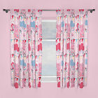 Peppa Pig Tweet Pink White Blue Polka Dot Bunting Childrens Ready Made Curtains