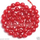 """6mm 8mm 10mm 12mm Natural Africa Red Jade Ruby Round Gemstone Loose Beads 15""""AAA"""