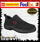 New Oliver Men's Safety Work Boots Shoes Sneakers Steel Toe Black Slip On 34610