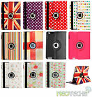 Retro Leather 360° Rotating Case Cover for Various Apple iPad Models