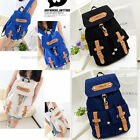 Girls Vintage Canvas Satchel Backpack Rucksack Shoulder School Bag HOt Sale New