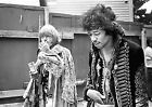 BRIAN JONES AND JIMI HENDRIX AT THE MONTEREY 1967 01 (MUSIC) PHOTO PRINT 01A