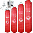 TurnerMAX Leather Heavy Filled Boxing Punching Bag WorkOut Gym Training MMA UFC