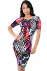 Popular Nightclub Vibrant Prints Bodycon Dress Casual Cocktail Party giti online