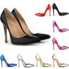 LADIES Womens HIGH HEELS POINTED CORSET STYLE WORK PUMPS COURT SHOES SIZE:US4-11