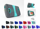 LG Tribute |Transpyre| Optimus F60 Exo Dual Layer Kickstand Case Cover+Prytool