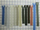 "Nylon Coil Zippers earth tones LOW RISE etc 5.5"" - 12"" 6 per item FREE SHIP"