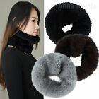AnnaKastle Womens Real Mink Fur Elastic Infinity Scarf Neck Warmer