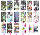 Cartoon Slim Printed Leather Case Wallet ID Cover Stand For Samsung Galaxy LG