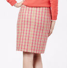 Boden British Tweed mini Pink Check quality Moon wool Various Sizes 19 in casual