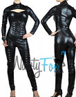 Sexy Gothic Black Bodysuit Catsuit Cat Woman Womens Halloween Costume S-3XL