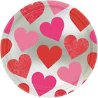 Red Pink Hearts Valentines Tableware Plates, Cups, Napkins  FAST FREE POSTAGE!