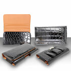Alligator Leather Pouch Case Belt Clip Holster Cover For Apple Phones