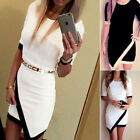 Sexy Womens Bandage Slim Bodycon Asymmetric Cocktail Evening Clubwear Mini Dress