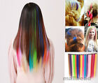 Colorful Hair piece Synthetic Straight Hair Extensions Highlight 9 colors hot