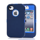 For iPhone 4 4S TPU Defender Cover Case Shockproof Hard Screen Protector
