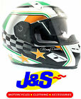 BKS FLAG SERIES HELMET IRELAND FLAG IRISH MOTORCYCLE LID ALL SIZES J&S CRASH HAT