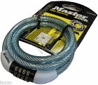 Master Lock Street Quantum 1200x8mm Combi Self Coiling Cable Lock Bicycle Safety