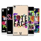 HEAD CASE FLOWERY STATEMENTS GEL BACK CASE COVER FOR HUAWEI ASCEND P6