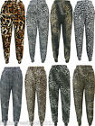 Ladies Animal Print Full Length Ali Baba Harem Hareem Pants Trousers Size S-XL