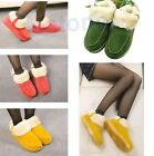 Women Slippers Warm Thermal Plush Flat Shoes Buckle Skidproof Home Snow Boots