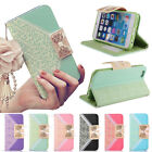 New Lace Bow Wallet Card Leather Flip Case Cover For Iphone 4 4s 5 5S 5C 6 Plus