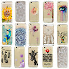 Ultra Thin Fashion Pattern Soft Back Case Cover For Iphone 5/5S 5C 6 & 6S 7 Plus