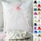 100 pcs 6x9 inch ORGANZA Fabric BAGS - Wedding FAVORS Drawstring Gift Pouch