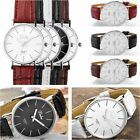 New Dalas F-011 Italian Designer Dress Quartz Watch with Faux Leather Strap