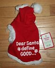 NWT Holiday Time Red Dog Hoodie ~Dear Santa Define Good ...~ Various Sizes