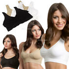 New Cozy Seamless Sports Leisure Bra Support Vest White Black Nude Yoga