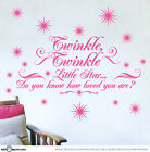 Twinkle Twinkle Little Star Childrens Nursery Vinyl Wall Sticker Room Decal set2