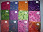 GEOMETRIC FLORALS batik fabrics 100% cotton from India by Fabric Traditions 1 yd