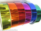 Colored CHROME Vinyl Tape, Pick your Colors and Sizes, NEW colors Mirror Vinyl
