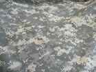 "Military camo camouflage fabric US ACU rip stop and 100% nylon 1 yd x 60"" wide"