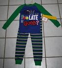 New Boys HOLIDAY TIME Blue Is It Too Late to Be Good Pajamas ~Inf & Toddler Szs
