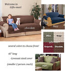 Microfiber fabric Pet Dog Cat Pad LOVESEAT Cover throw drink spill protection