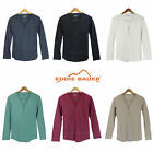 NWT Eddie Bauer Henley Thermal Shirt 3 Button V-Neck Women T-Shirt 6 Colors S-XL